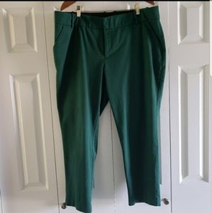 Ava & Viv Dark Forest Green Cropped Trousers 18